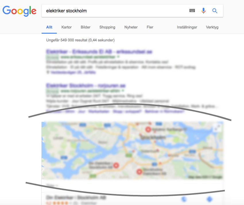 Synas på Google med av hjälp av Google My Business