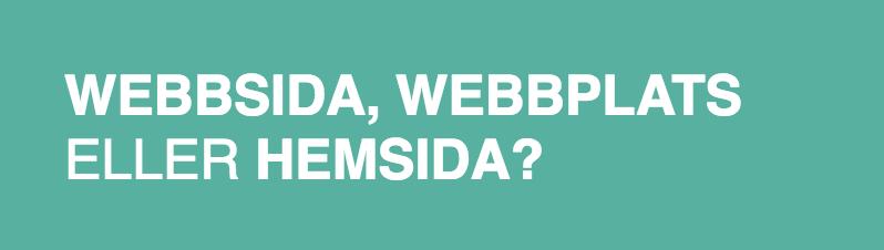 Weddsida, webbplats eller hemsida