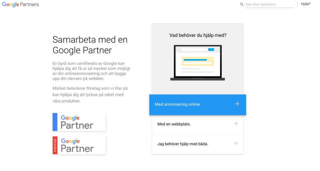 Partner till Googles sponsrade länkar