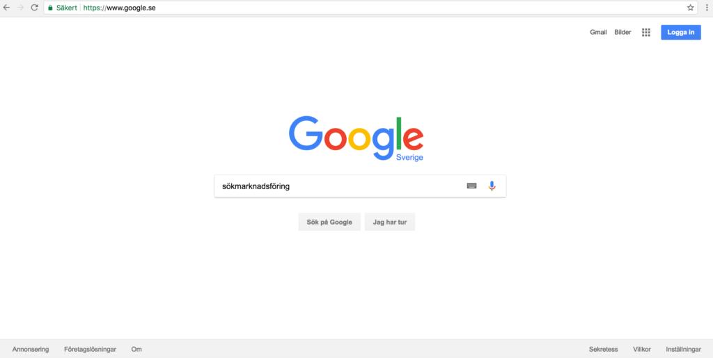 Sökning med sökordet sökmarknadsföring