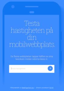 Pagespeed - testa laddningshastigheten på din webbplats