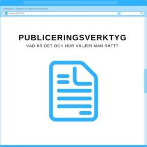 publiceringsverktyg - vad är det?