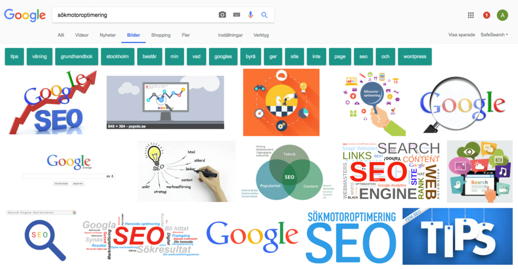 Exponering i Googles bildsök