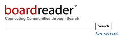 Boardreader sökmotor