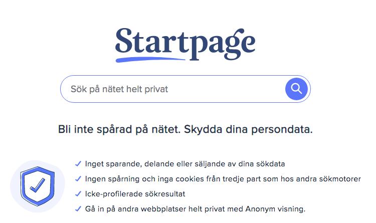 Startpage sökmotor