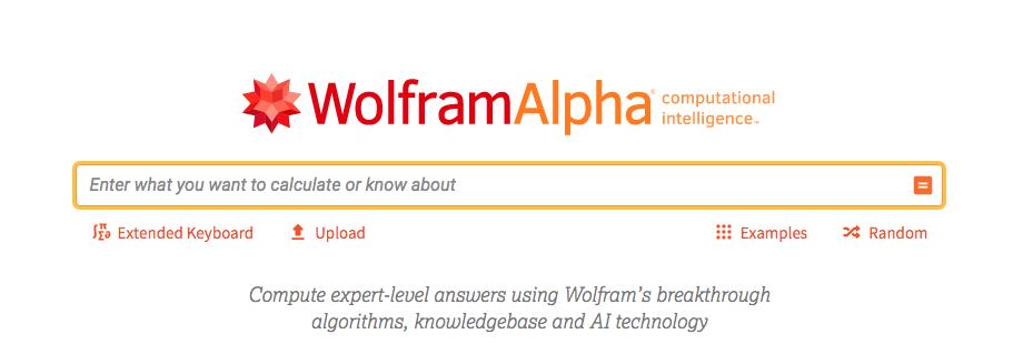 WolframAlpha sökmotor