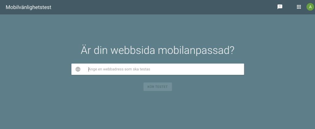 Mobilvänlighetstest