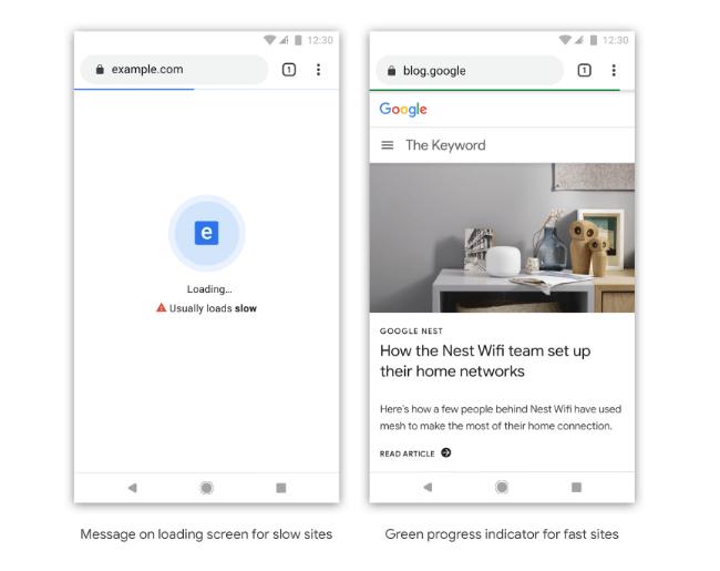 Google Chrome varnar för långsamma laddningstider