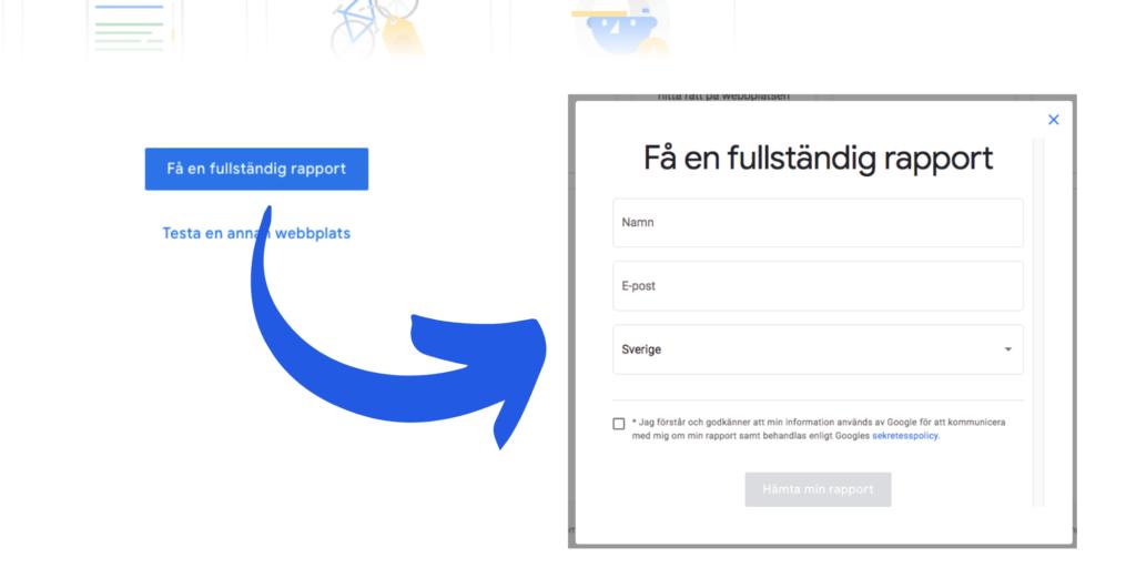 Hämta fullständig rapport i Googles verktyg Grow My Store